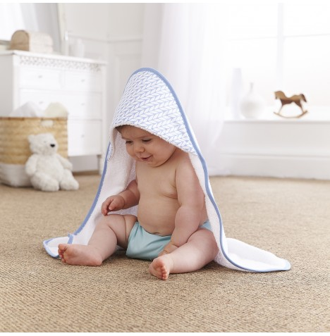Clair De Lune Luxury Hooded Towel - Barley Bebe Blue